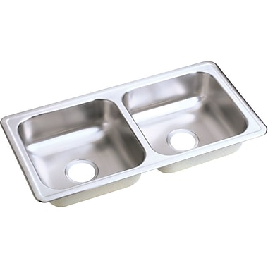 Elkay Dayton 33'' x 17'' Double Basin Drop-In Kitchen Sink