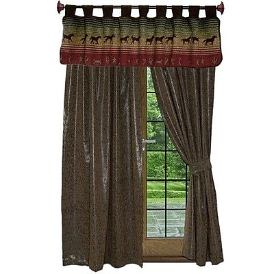 Wooded River Mustang Canyon 60'' Curtain Valance