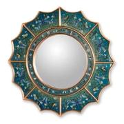 Novica The Gelacio Giron Reverse Painted Glass Mirror