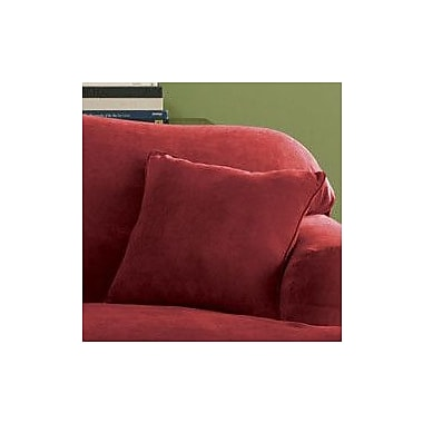 Sure Fit Soft Suede Self Cord Throw Pillow; Taupe