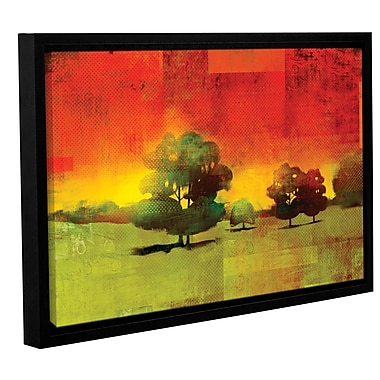 ArtWall 'Tree Study' by Greg Simanson Framed Painting Print on Wrapped Canvas; 24'' H x 36'' W