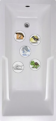 No Slip Mat by Versatraction Wai Aikanes Ocean Buddies Bath Tub and Shower Treads (Set of 5)