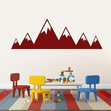 SweetumsWallDecals Mountains Wall Decal; Cranberry