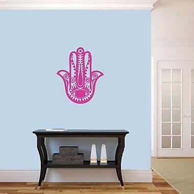 SweetumsWallDecals Hamsa Hand Wall Decal; Hot Pink