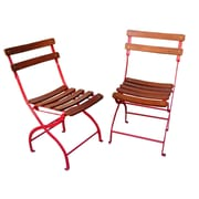 Innova Hearth and Home Folding Side Chair (Set of 2); Red