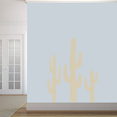 SweetumsWallDecals Cactuses Wall Decal; Beige
