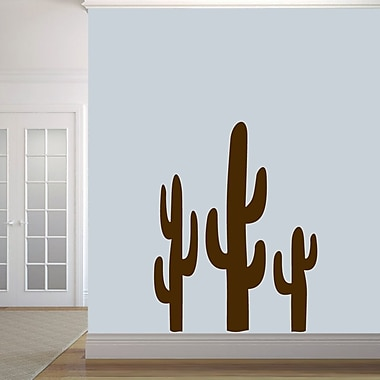 SweetumsWallDecals Cactuses Wall Decal; Brown
