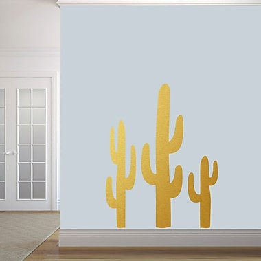 SweetumsWallDecals Cactuses Wall Decal; Gold