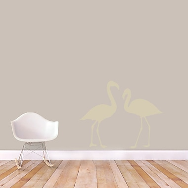 SweetumsWallDecals Flamingos Wall Decal; Beige