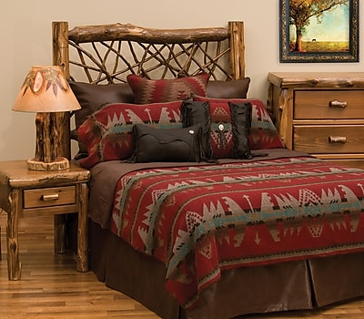Wooded River Yellowstone II Bed Skirt; Queen