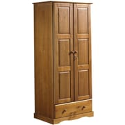 PalaceImports Flexible Armoire; Honey Pine