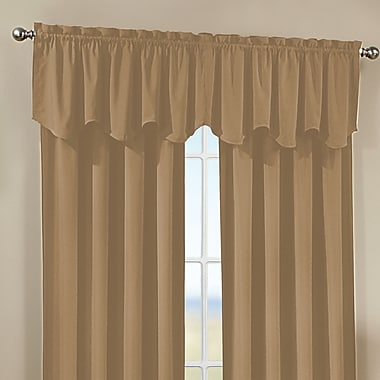 CHF Peach Skin Saw Curtain Valance; Khaki