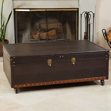 Home Loft Concepts Bowler Trunk and Coffee Table