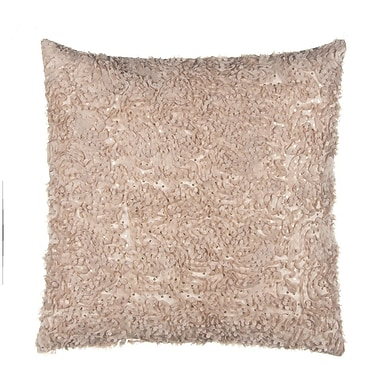 Grouchy Goose Chiffon Petal on Sequined Tulle Over Velvet Throw Pillow