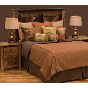Wooded River Reel Time Bed Skirt; Queen
