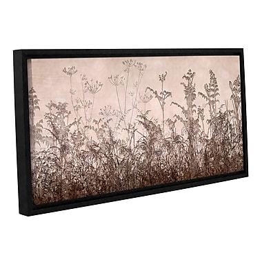 ArtWall 'Wildflowers Brown' by Cora Niele Framed Photographic Print on Canvas; 18'' H x 36'' W