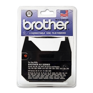 Brother® 1230 Correctable Ribbon, Black, 2/Pack