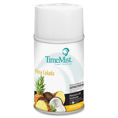 TimeMist® Metered Aerosol Fragrance Dispenser Refills, 6.6 oz, Pina Colada, 12/Carton (1042690)
