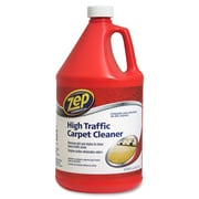 Zep Commercial High Traffic Carpet Cleaner, Liquid Solution, 1 gal (128 fl oz), 4/Carton, Red (ZPE1041689CT)