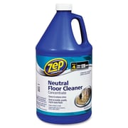 Zep Commercial Neutral Floor Cleaner Concentrate, Concentrate Liquid Solution, 1 gal (128 fl oz), 4/Carton, Blue (ZPE1041696CT)