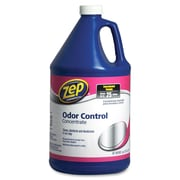 Zep Commercial Odor Control Concentrate, Concentrate Liquid Solution, 1 gal (128 fl oz), Lemon, Fresh Scent, 4/Carton, Blue
