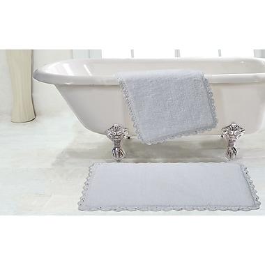 Chesapeake Crochet 2 Piece Bath Rug Set; White