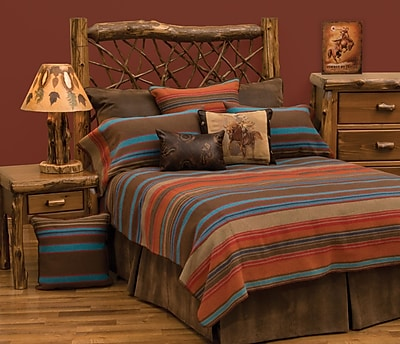 Wooded River Tombstone II Bed Skirt; Queen