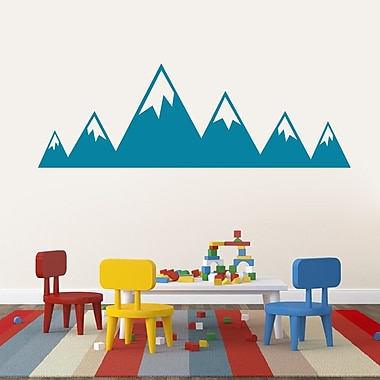 SweetumsWallDecals Mountains Wall Decal; Teal