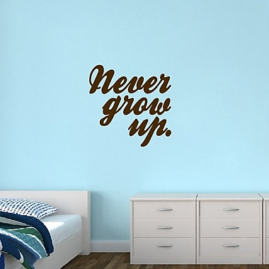 SweetumsWallDecals Never Grow Up Wall Decal; Brown