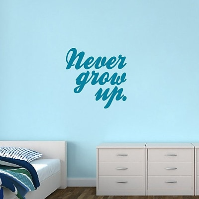 SweetumsWallDecals Never Grow Up Wall Decal; Teal