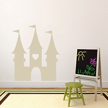 SweetumsWallDecals Princess Castle Wall Decal; Beige