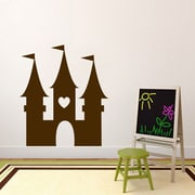 SweetumsWallDecals Princess Castle Wall Decal; Brown