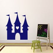 SweetumsWallDecals Princess Castle Wall Decal; Navy