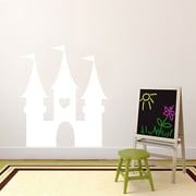 SweetumsWallDecals Princess Castle Wall Decal; White