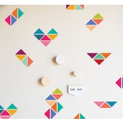 The Lovely Wall Company Rainbow Triangles Wall Decal