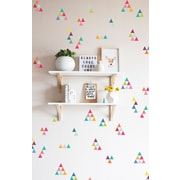 The Lovely Wall Company Extra Tiny Triangles Rainbow Wall Decal