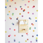 The Lovely Wall Company Confetti Dots Wall Decal; Muted Rainbow