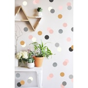 The Lovely Wall Company Confetti Dots Wall Decal; Neutral / Metallic