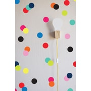 The Lovely Wall Company Confetti Dots Wall Decal; Bright Multi