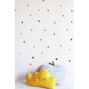 The Lovely Wall Company Tiny Confetti Triangles Wall Decal; Primary