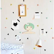 The Lovely Wall Company Tiny Confetti Triangles Wall Decal; Fun