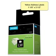 "Dymo® 30255 1 1/8"" LW Address Labels, Yellow, 130/Roll"