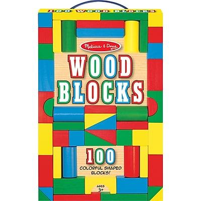 Melissa & Doug 100 Piece Wood Building