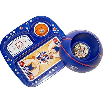Remarkabowl™ Lil Pro Basketball Dish Set, Blue/Red (1-30510)