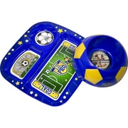 Remarkabowl™ Lil Pro Soccer Dish Set, Blue/Yellow (1-30518)