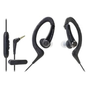 Audio-Technica® SonicSport® ATH-SPORT1iS In-Ear Headphone with In-Line Mic and Control, Black