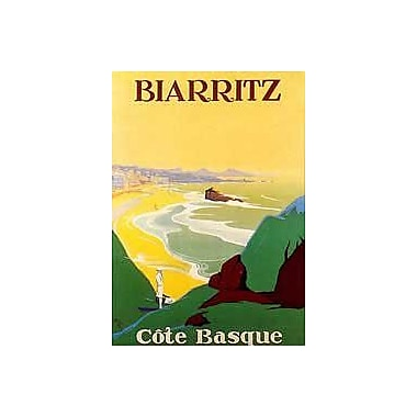 Printfinders Edition: Biarritz Vintage Advertisement on Wrapped Canvas; 36'' H x 24'' W x 1.5'' D