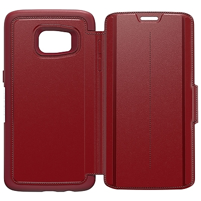 OtterBox Strada Series Case for Galaxy S7 Edge, Ruby Romance Red (77-53190)
