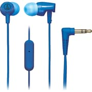 Audio-Technica® SonicFuel® ATH-CLR100is In-Ear Headphone with In-Line Mic and Control, Blue