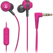 Audio-Technica® SonicSport® ATH-COR150iS In-Ear Headphone with In-Line Mic and Control, Pink